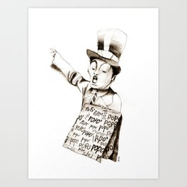 the POPO' paperboy Art Print