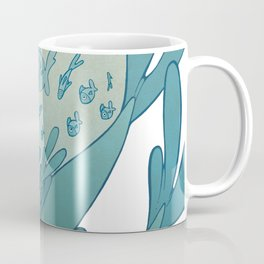 The puddle was an ocean full of fishes Coffee Mug