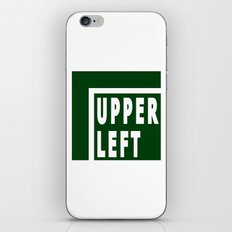 Upperleft Green iPhone & iPod Skin