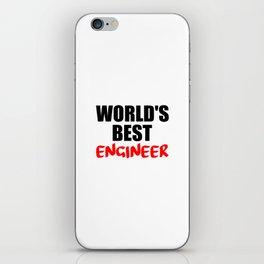 worlds best engineer iPhone Skin