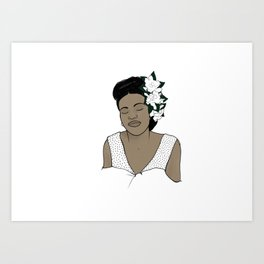 Billie Holiday / Lady Day Art Print