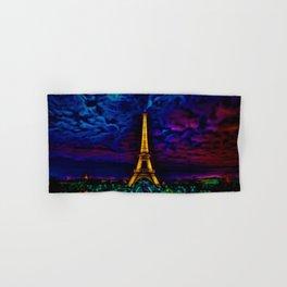 Paris Starry Night by Jeanpaul Ferro Hand & Bath Towel