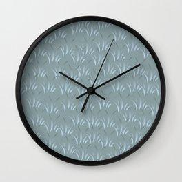Blue Stalk Wall Clock