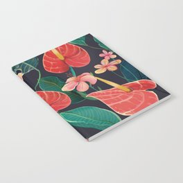 watercolor tropical flowers Notebook