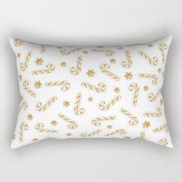 Golden Candycane Light Rectangular Pillow