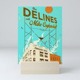 THE DELINES w/ Mike Coykendall - Feb 16th, 2019 @ The Secret Society - Portland, Oregon Mini Art Print