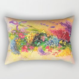A bouquet of beautiful wildflowers Rectangular Pillow