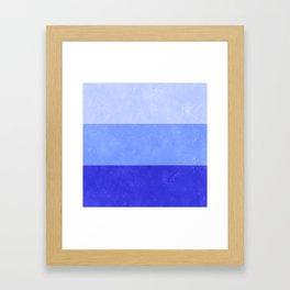 Blue Grunge Stripes Framed Art Print