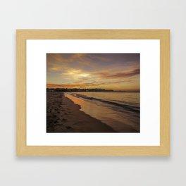 Last light on the Port Framed Art Print