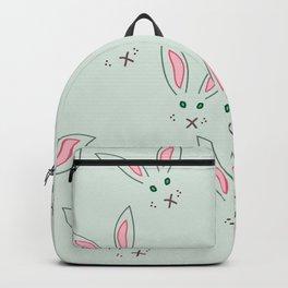 Grey rabbit pattern Backpack