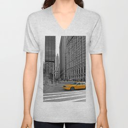NYC Yellow Cabs Trinity Place - USA Unisex V-Neck