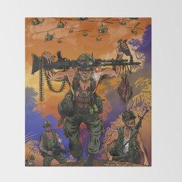 War Machine - The Nam Dude Throw Blanket