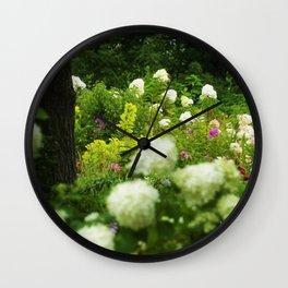 Limelight Hydrangeas in My Rubio Garden Wall Clock