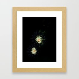 Blue Pansies Framed Art Print