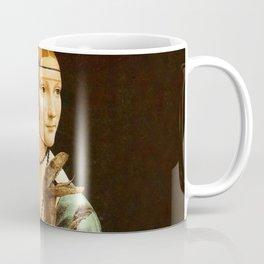 Lady with a Velociraptor Coffee Mug