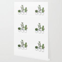 Three Little Succulents Wallpaper