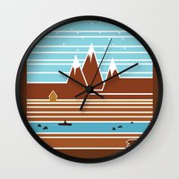 canada Wall Clocks featuring Canada. by Grant Pearce