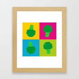 Popart Broccoli Framed Art Print