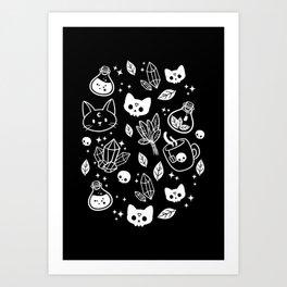Herb Witch // Black & White Art Print