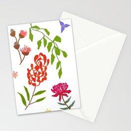 Australian flora on white Stationery Cards