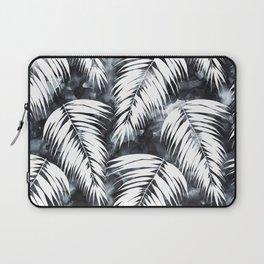 Maui Palm Black and White Laptop Sleeve