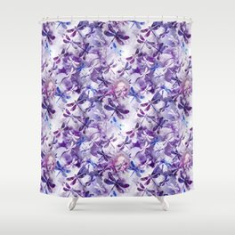 Dragonfly Lullaby in Pantone Ultraviolet Purple Shower Curtain