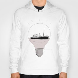 Ship in a light bulb . Hoody