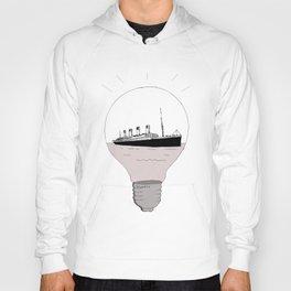 Ship in a light bulb . Hoody