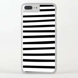 Black and White Hand Drawn Stripes Clear iPhone Case