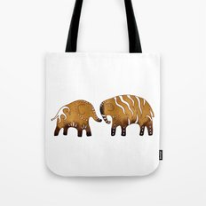 Gingerbread elephants Tote Bag