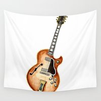 guitar Wall Tapestries featuring Guitar by Bridget Davidson