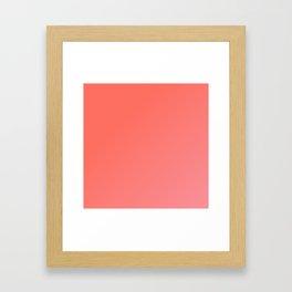 Coral Blush Ombre Framed Art Print