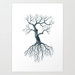 Tree without leaves Art Print