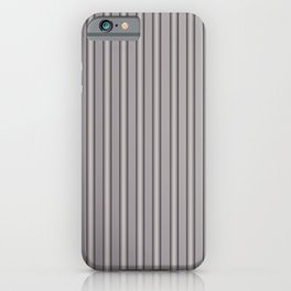 Grey Metal Bars Vertical Lined Stripes iPhone Case