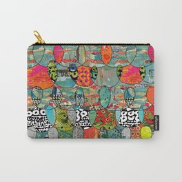 Color Riot Abstract Art Collage Carry-All Pouch