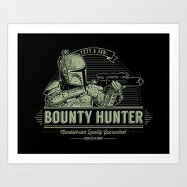 Galactic Bounty Hunter Art Print
