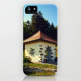 Small chapel up on the mountain iPhone Case
