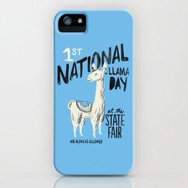 National Llama Day iPhone Case