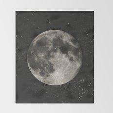 The Moon  [Sans Type] Throw Blanket