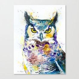 Horned Owl Canvas Print