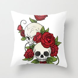 Edgy Old School Throw Pillow