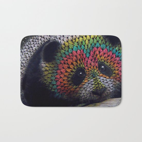 Rainbow Panda Bath Mat