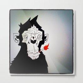 The Smoking Monkey Metal Print