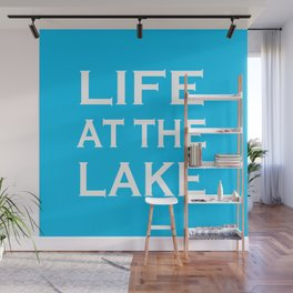 Life At The Lake - Summer Blue and White Wall Mural