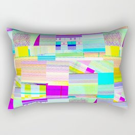 Glitchy Rectangular Pillow