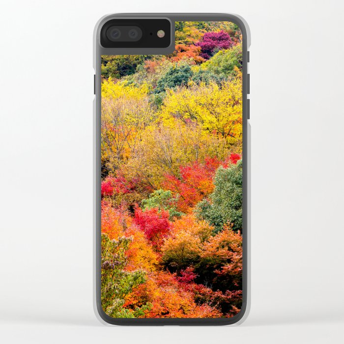 Autumn Forest Clear iPhone Case