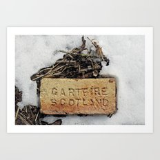 Brick in the Snow Art Print