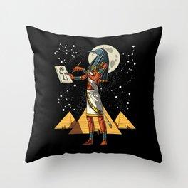 Thoth Egyptian God Ancient Pyramids Throw Pillow