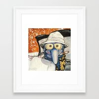 fear and loathing Framed Art Prints featuring Fear & Loathing Gonzo by Kristal Serrano