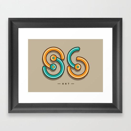S6 ART Framed Art Print